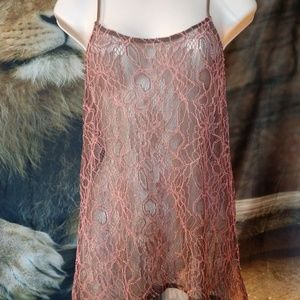 Pins and Needles beautiful sheer lace camisole